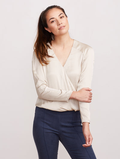 THE CROSSOVER BLOUSE