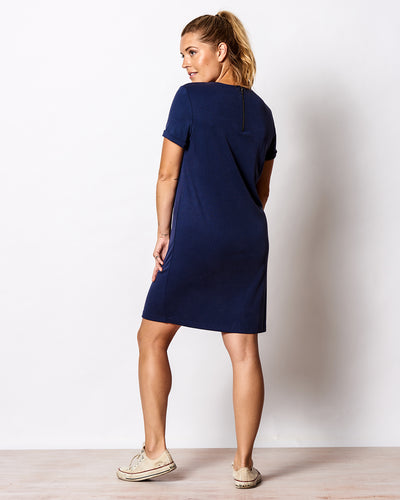 THE RIBBED T-SHIRT DRESS