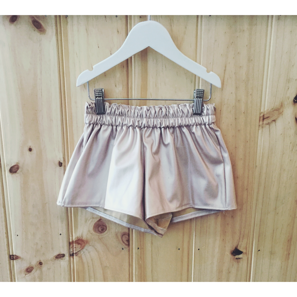 Blush Leatherette shorts