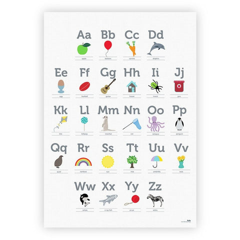Two Little Ducklings - Alphabet Poster