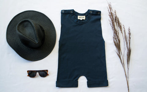 Midnight Navy Low Cut Romper