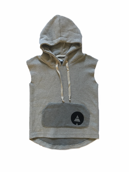 Mini muscle hooded vest