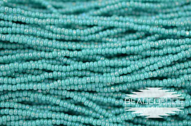 11/0 OP Turquoise green AB | Charlotte Cut