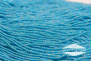 11/0 Aqua Turquoise Lined AB | Seed beads