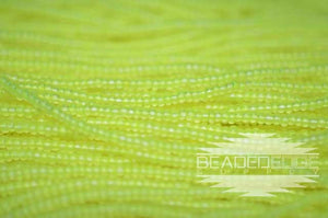 11/0 TR Matte Neon Yellow | Seed Beads
