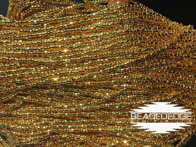 12/0 24k Gold Plated Beads | 3 Cut
