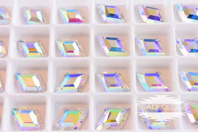 13x20mm Rhombus AB | 3 Pair