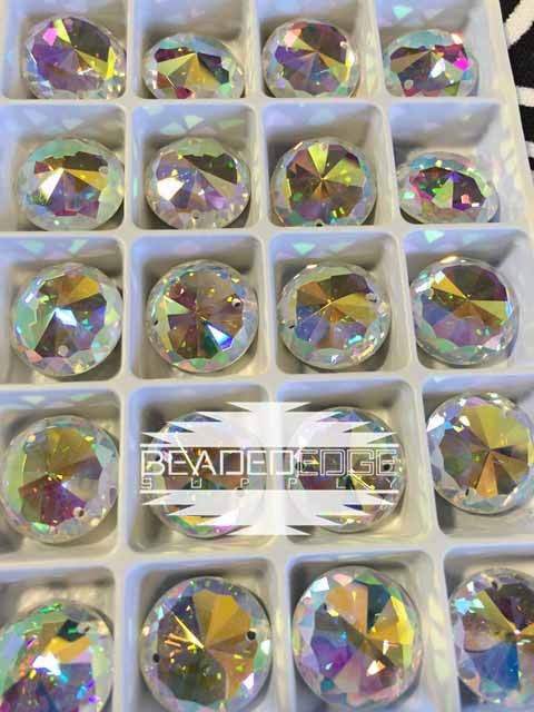 16mm Round Crystal AB | 2 Pair