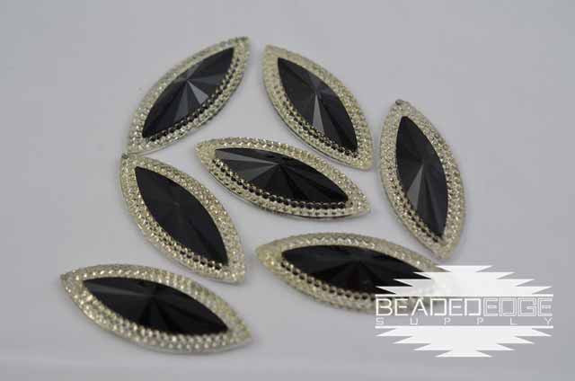 20x48 Black Crystal Navette
