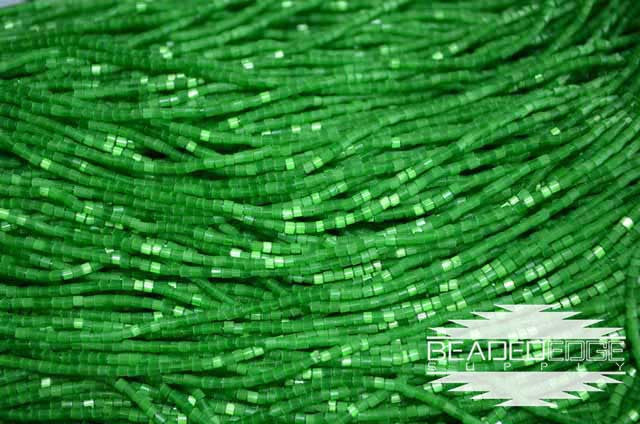 11/0 2 Cut Green Satin