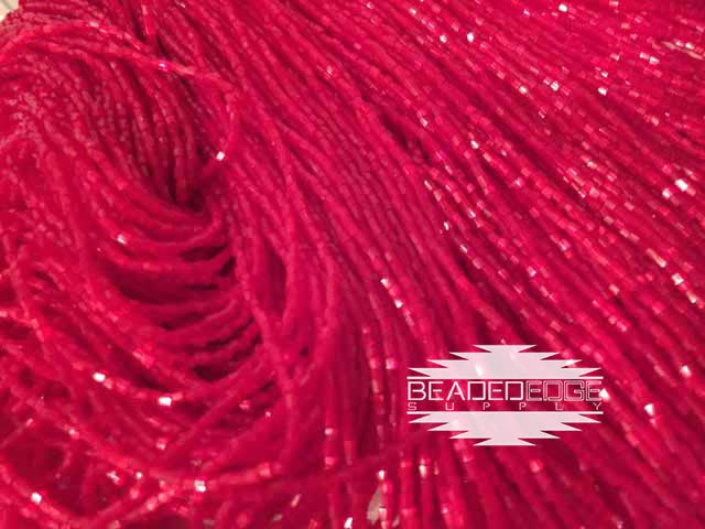 11/0 2 Cut Red Satin