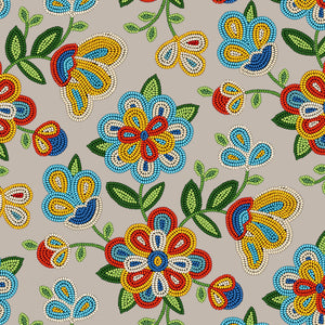 Sephia Beaded Floral  | Fabric