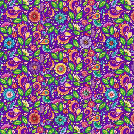 Small Purple Flower | Fabric
