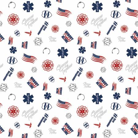 First Responders White | Fabric