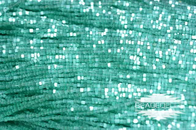 11/0 2 Cut Emerald Satin