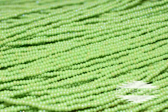 11/0 OP Lime Green AB | Seed Beads