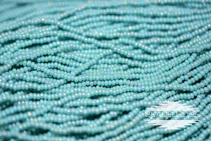 11/0 OP Green Turquoise AB | Seed Beads