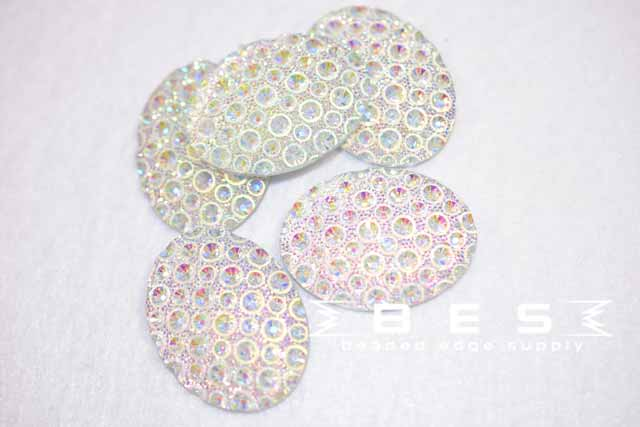 30x40mm AB Speckle Oval