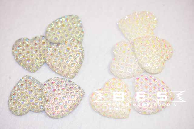 30mm Speckle Hearts | 2 Colors