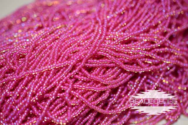 11/0 Topaz/Pink Lined AB | Seed beads