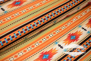 Gold Indian Blanket Stripe | Fabric