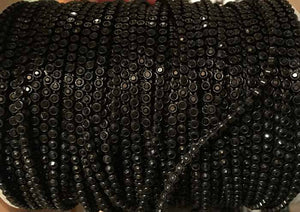SS8 Black on Black Rhinestone Banding