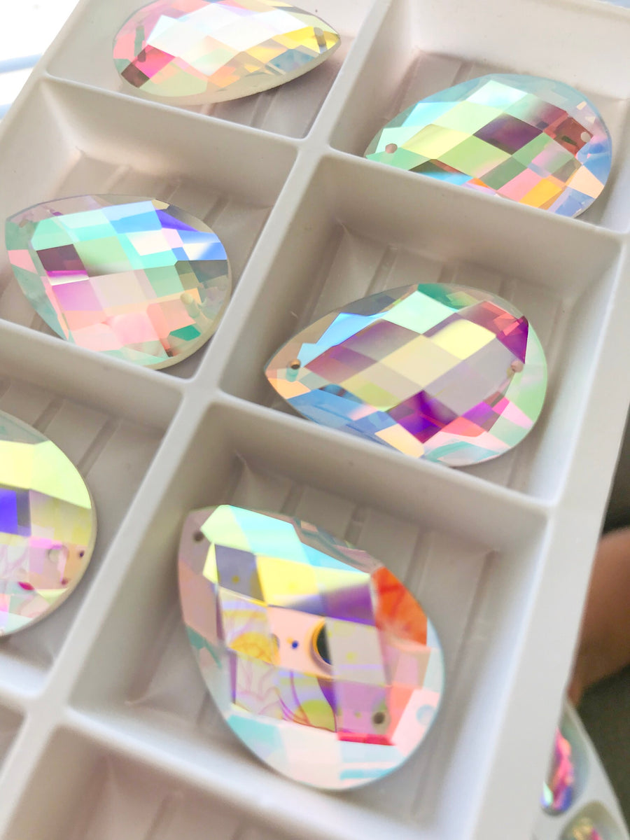 20x30mm Faceted Teardrop | 2 Pair