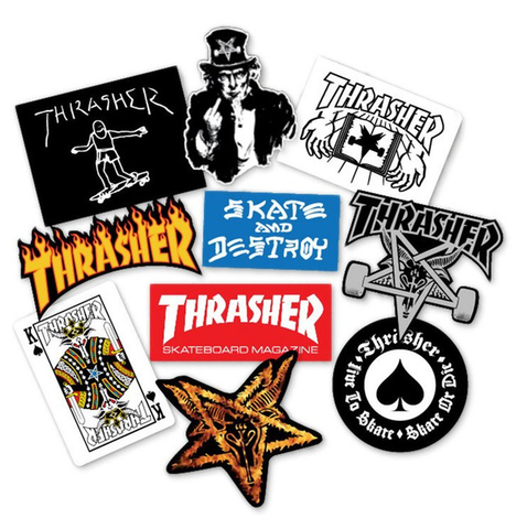 THRASHER STICKER ASSORTED