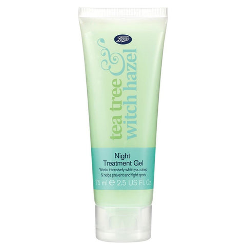 Boots Tea Tree & Witch Hazel Night Gel 75ml