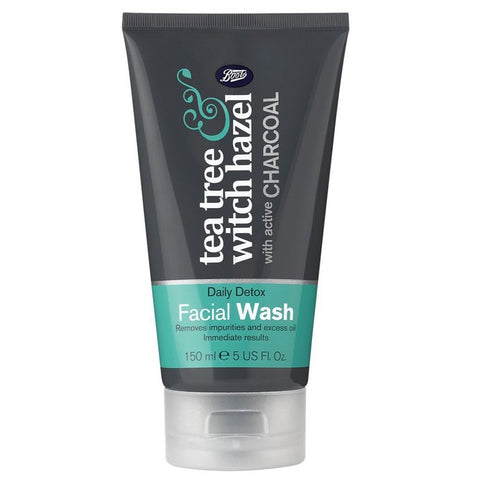 Boots Tea Tree & Witch Hazel Charcoal Facial Wash