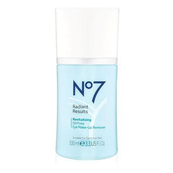No7 Radiant Results Revitalising Oil Free Eye Make-Up Remover 100ml
