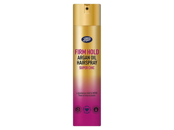 Boots Firm Hold Hairspray with Argan Oil 200ml