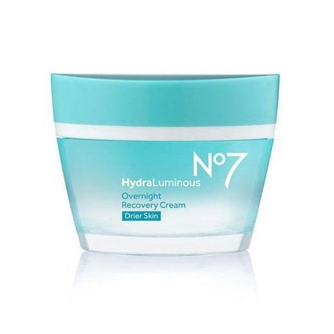 No7 HydraLuminous Overnight Recovery Cream Drier Skin