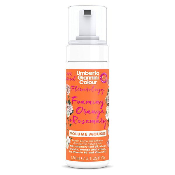 Umberto Giannini Flowerology Foaming Orange + Rosemary Volume Mousse