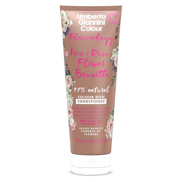 Umberto Giannini Flowerology Iris + Rose Flower Brunette 97% Natural Colour Rich Conditioner