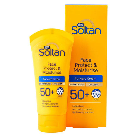Soltan Protect & Moisturise Face SPF50+ 50ml