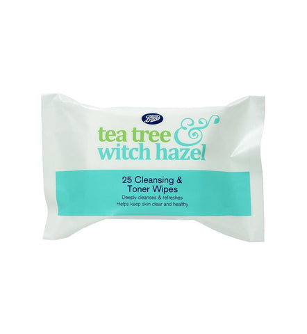 Boots Tea Tree & Witch Hazel Face Wipes 25s