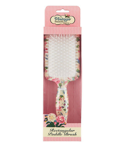 The Vintage Cosmetics Co. Rectangular Pad Brush Floral