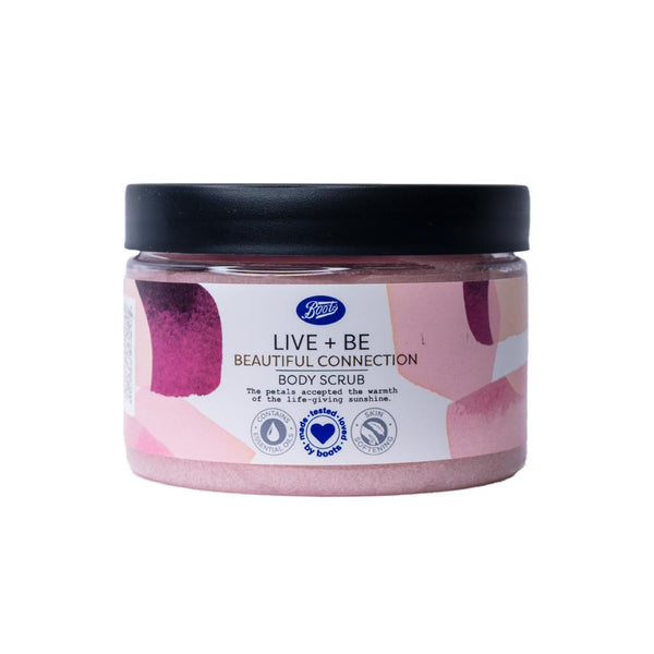 Boots Live And Be Live And Be Beautiful Connection Body Scrub 300ml