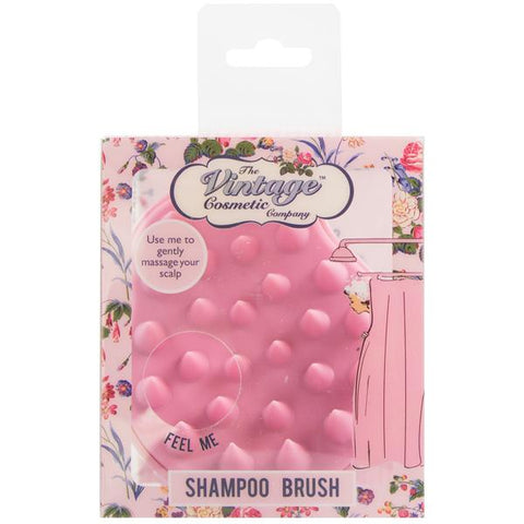 The Vintage Cosmetics Co. Scalp Massaging Shower Brush Pink