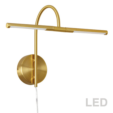 Dainolite Canada - LED Picture Light - Display/Exhibit - Aged Brass