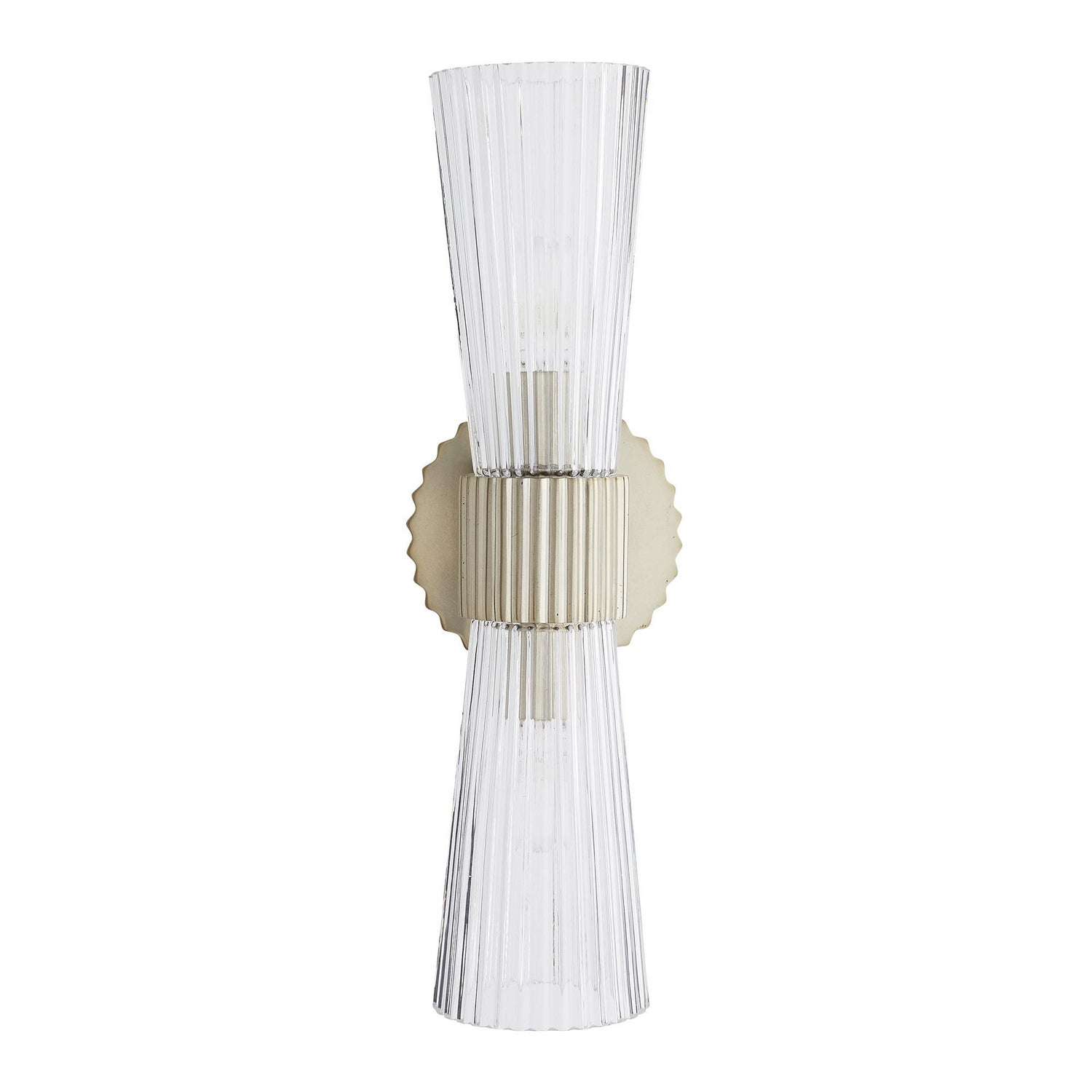Arteriors - Two Light Wall Sconce - Whittier - Fluted Clear