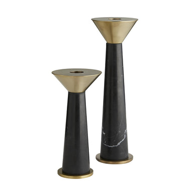 Arteriors - Candleholders Set of 2 - Tenbrooke - Black