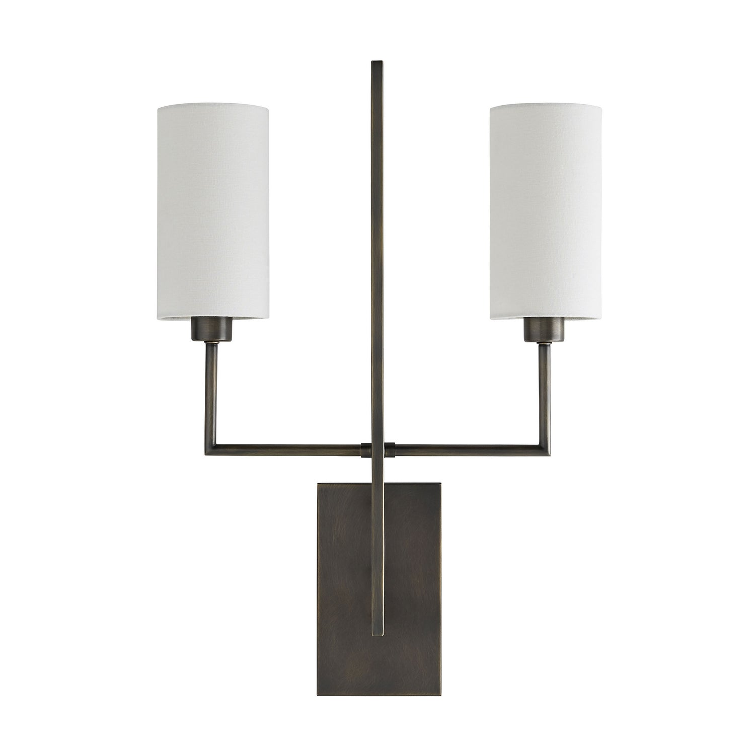 Arteriors - Two Light Wall Sconce - Ray Booth for Arteriors - Aged Bronze