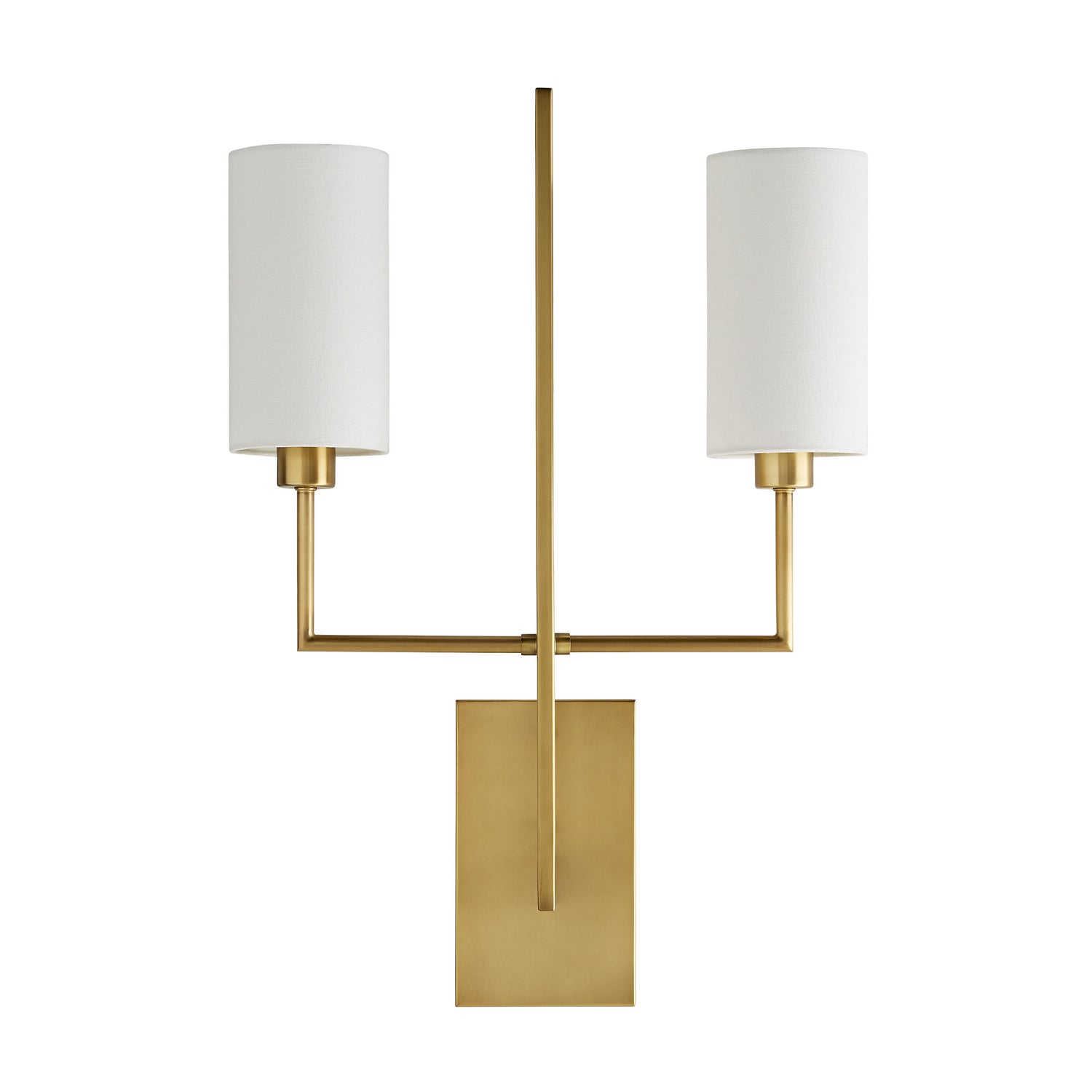 Arteriors - Two Light Wall Sconce - Ray Booth for Arteriors - Antique Brass