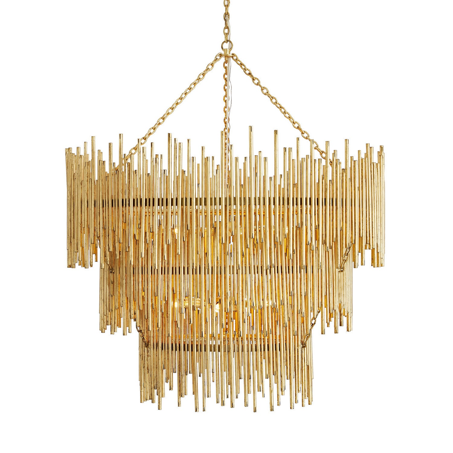 Arteriors - 12 Light Chandelier - Prescott - Gold Leaf