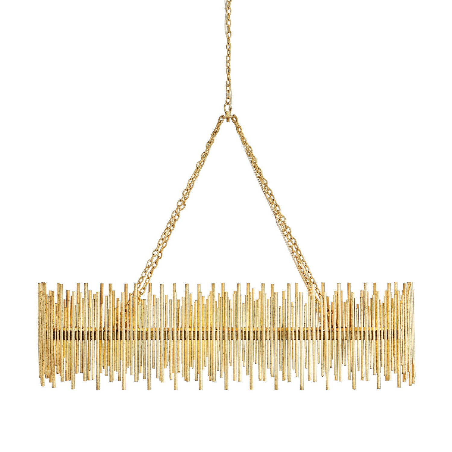 Arteriors - Ten Light Chandelier - Prescott - Gold Leaf