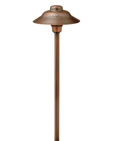Hinkley Canada - LED Path Light - Path Essence Hammered - Olde Copper