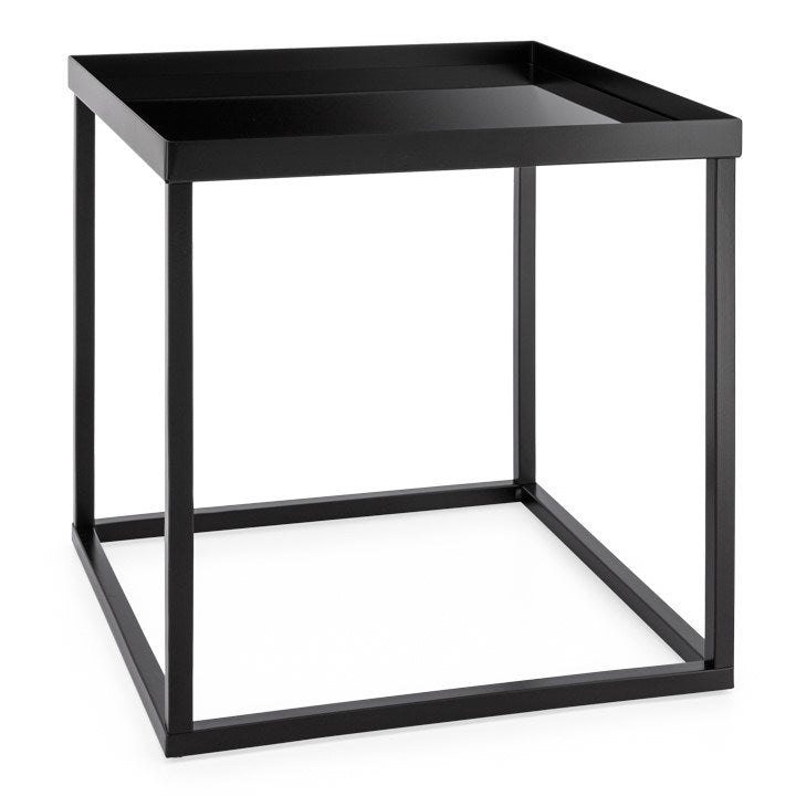 Black Glass Stacking Table