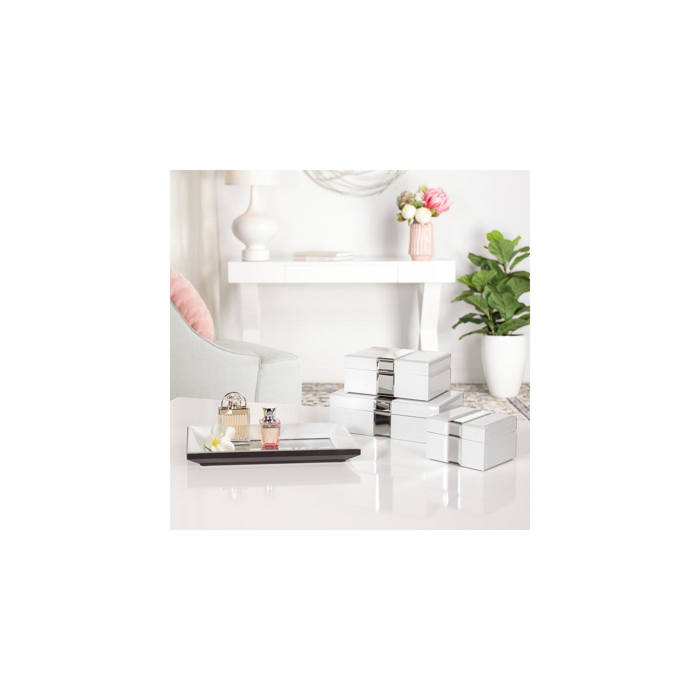 Bevelled Glass Mirror Trim Box